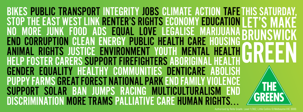 Top 10 reasons to vote green in brunswick this election tim read