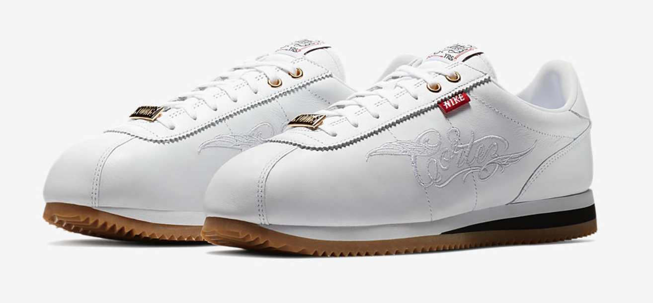 buy popular 9e275 e864a This all-white colorway features custom-embroidered branding crafted by  Mister Cartoon and a