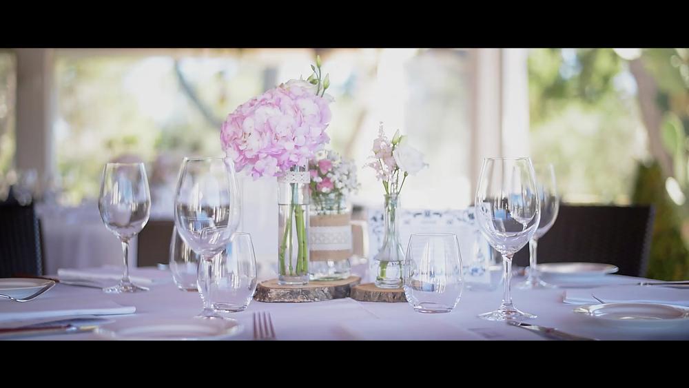 Bonitos centros de mesa que decoró Bea de Artnatur.