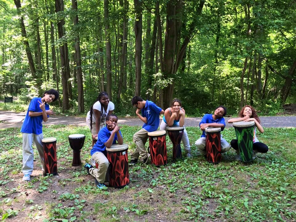 2015 AMA STUDENTS PRACTICE THEIR DRUMMING SKILLS