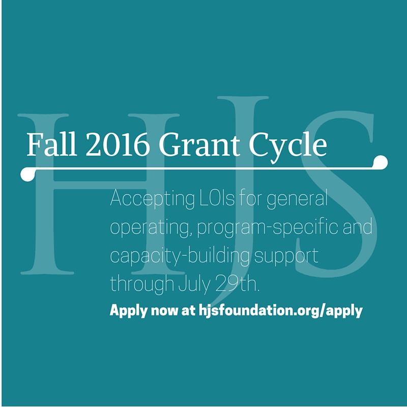 HJSF Fall Grant Cycle Open
