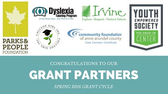 spring 2016 grant partners logos header