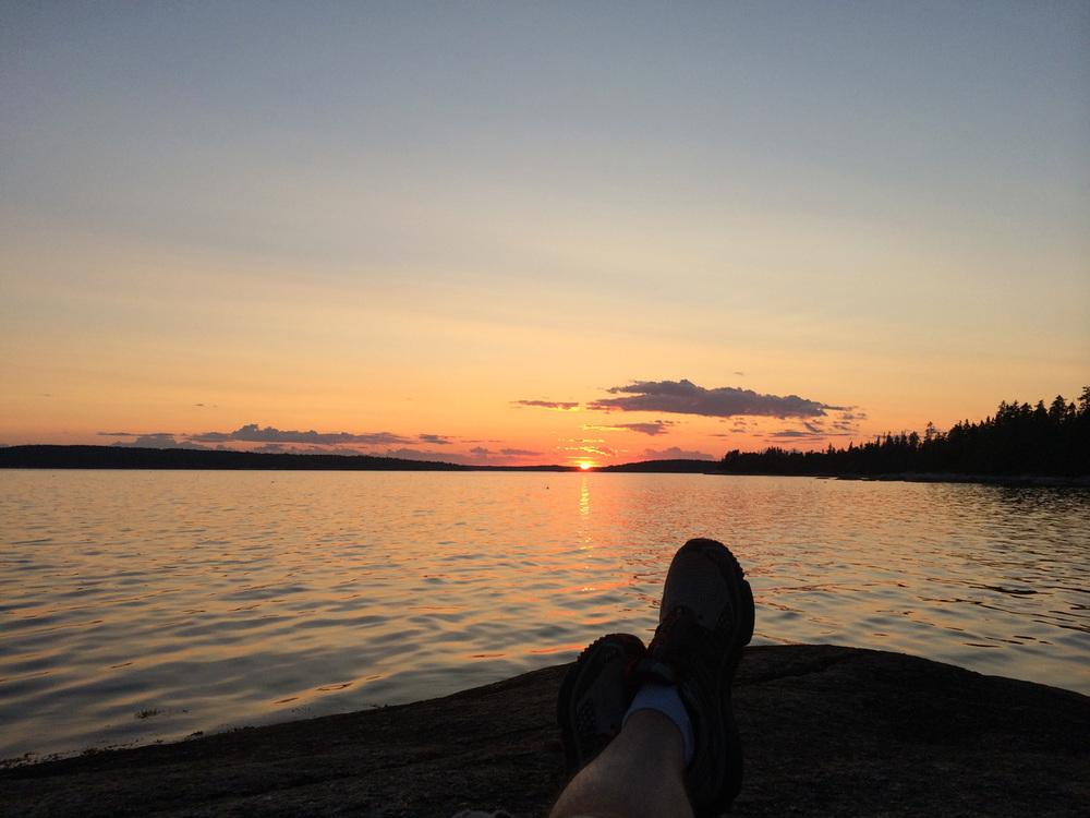 Haystack Sunset