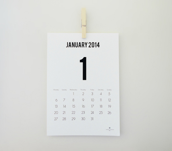 Minimalist Calendar Design : Modern minimal downloadable calendars for — design