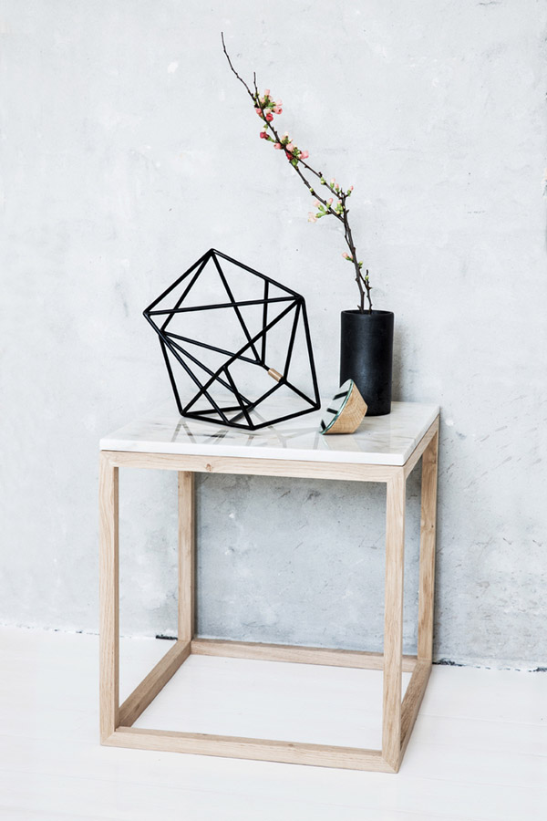 Marble_cube_table_Kristina_Dam. This Simple Oak Framed Side Table ...