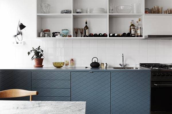 A dove blue kitchen Design Hunter