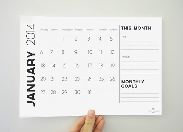 Contemporary Art Calendar Uk : Modern minimal downloadable calendars for — design