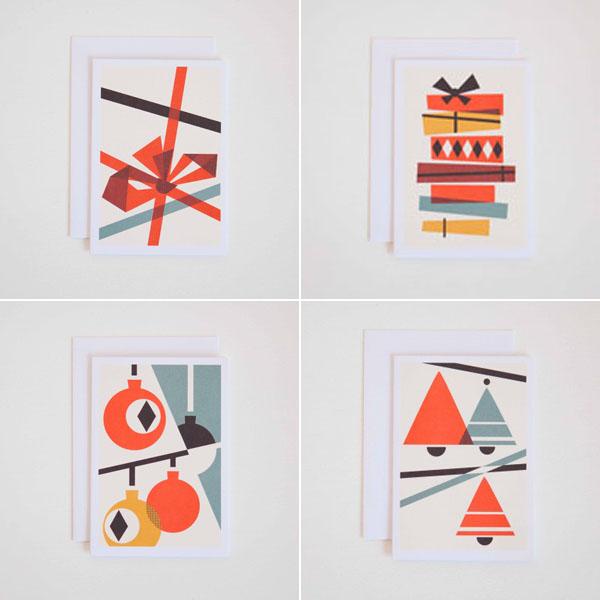 Bauhaus inspired christmas cards design hunter for Inspirational christmas cards design