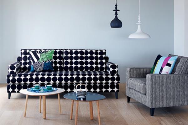 Marimekko sofa and cushions