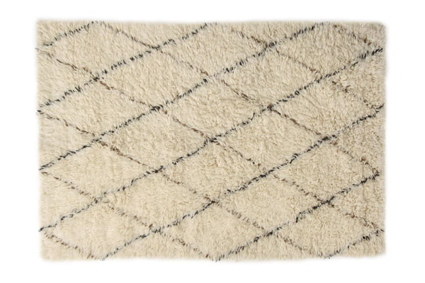Flokati Diamonds rug   - Anthropologie 