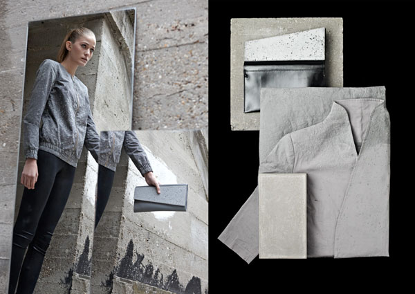concrete clutch bags by Ivanka