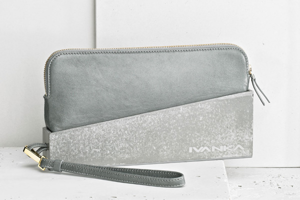 concrete clutch bag by Ivanka
