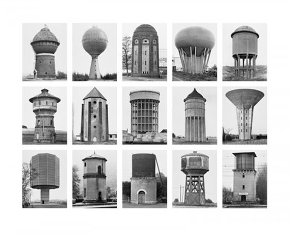 Watertowers by Bernd and Hilla Becher