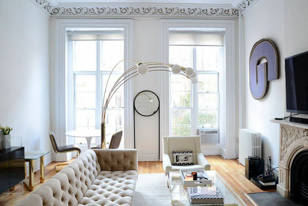 a decadent west village apartment design hunter. Black Bedroom Furniture Sets. Home Design Ideas