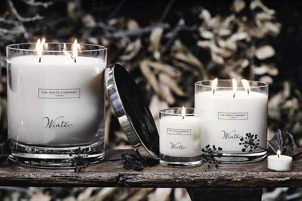 The White Company Winter festive candle