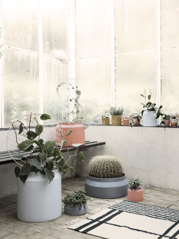 Ferm Living concrete plant pots | Design Hunter