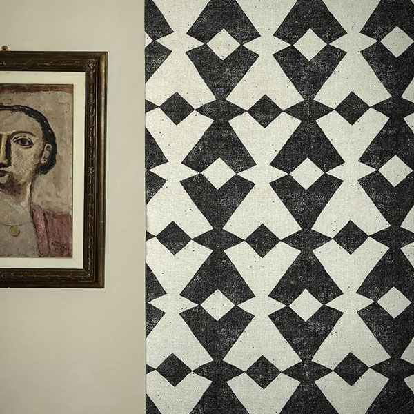 Dedar Tangram | tribal inspired geometric motif | Design Hunter