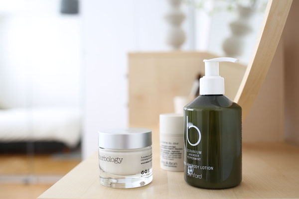 Bamford products from Birchbox on Habitat dressing table | Design Hunter