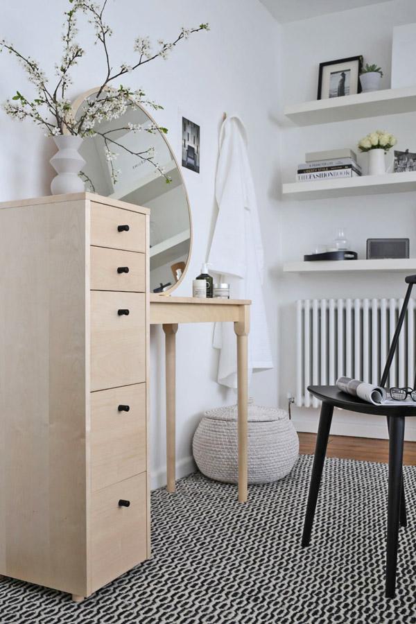 White bedroom with Habitat dressing table | Design Hunter