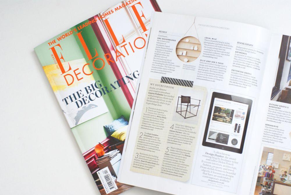 Design Hunter in Elle Decoration Directory
