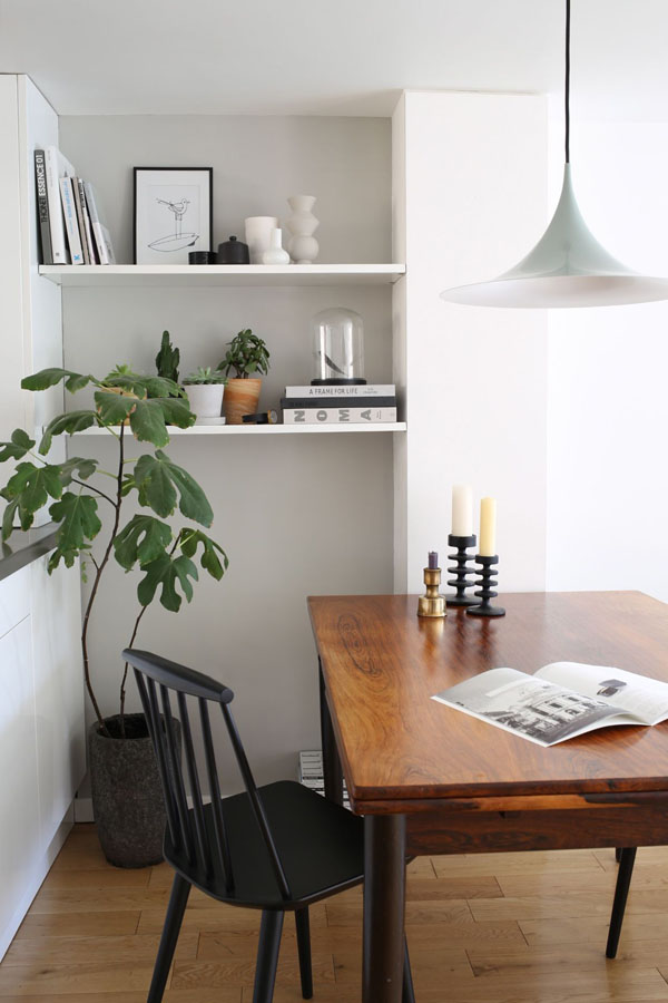 Rosewood dining table and shelves | Design Hunter