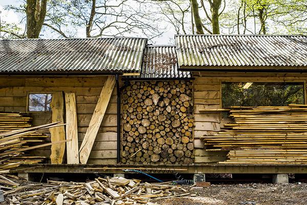 Tom's workshop in Cornwall. Image: Gary Moger