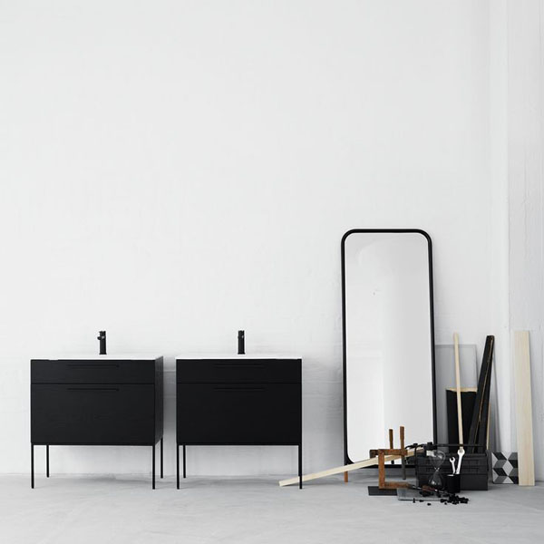 Black bathroom units from Swoon | Design Hunter