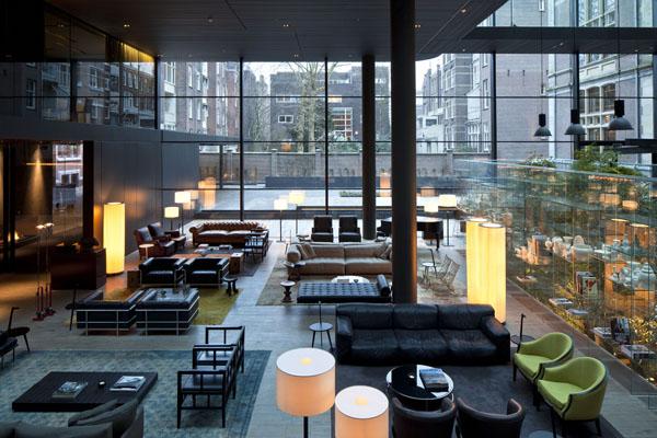 Glazed courtyard at The Conservatorium Hotel Amsterdam | Design Hunter