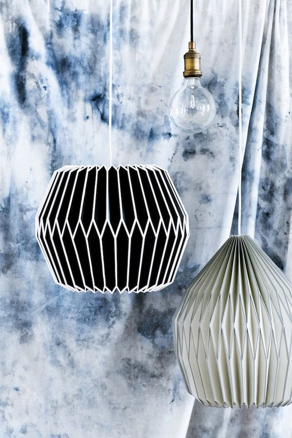 Paper lamp shades by Broste Copenhagen