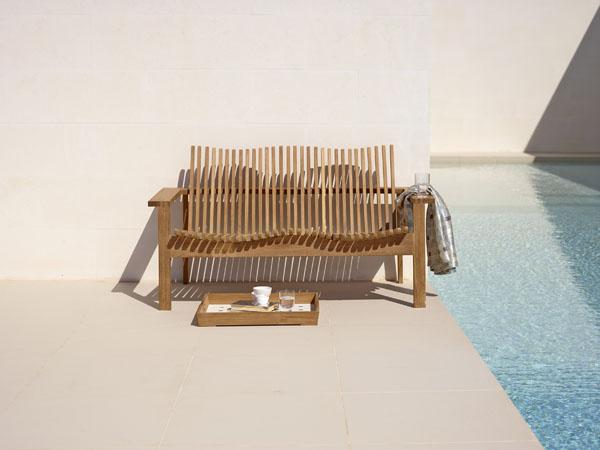 Amaze teak sofa by Cane Line