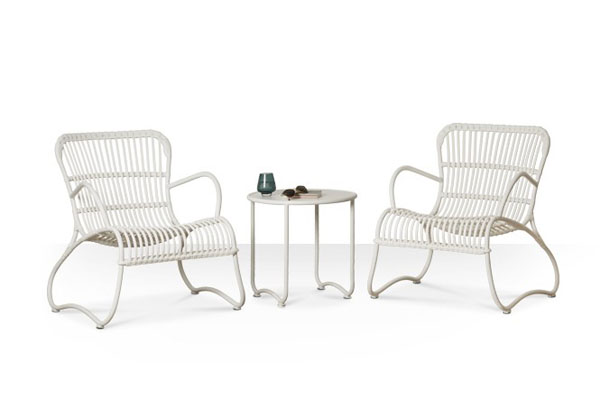 Padstowe white wicker chairs Swoon Editions