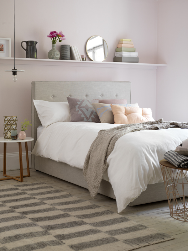 Blush pink bedroom - Button & Sprung