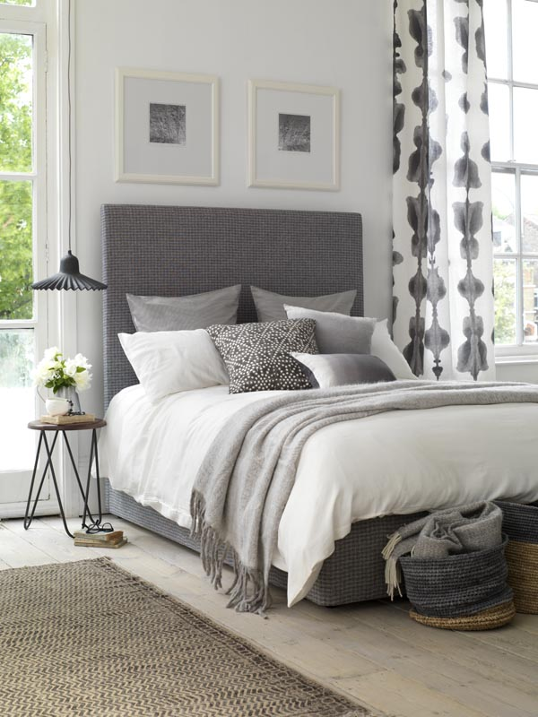 Sunday morning style - upholstered beds