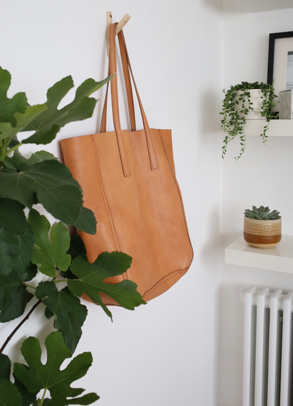 Shinola tan leather shopper tote