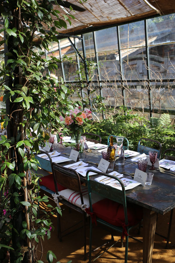 Table setting at Petersham Nurseries