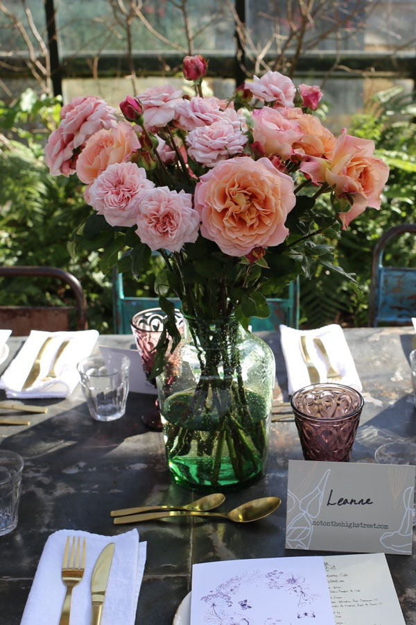 Pink roses at Petersham Nurseries | Design Hunter