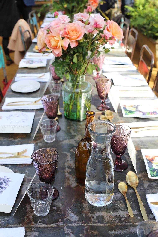 Table setting at Petersham Nurseries | Design Hunter