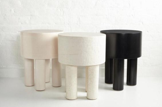 Pilotis side tables by Malgorzata Bany