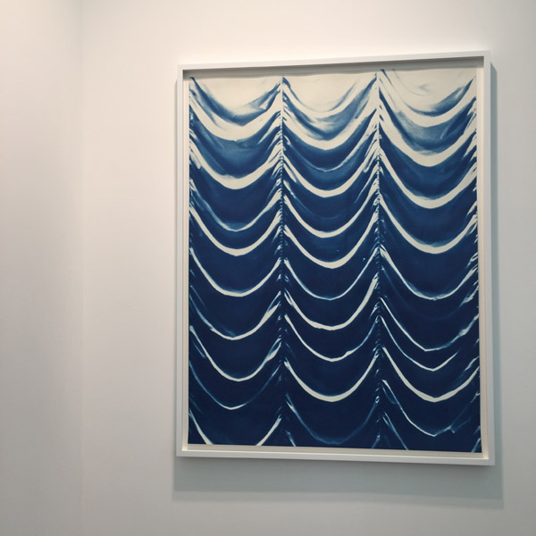 Blueprint for a curtain by Bridget Smith | Frieze Art Fair 2015