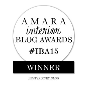 Amara Interior Blog Awards - Best Luxury Blog 2015