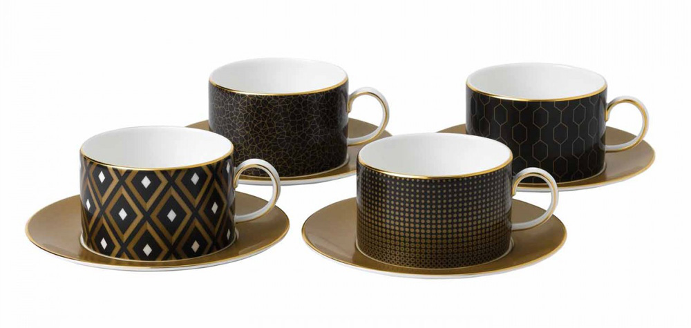 Wedgwood Arris teacups and saucers | Design Hunter