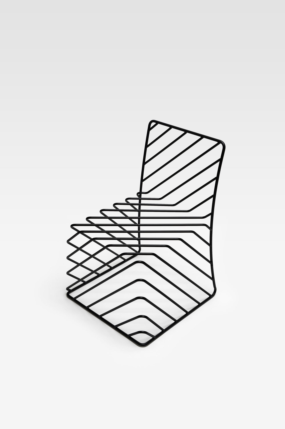 Thin black lines chair | Nendo