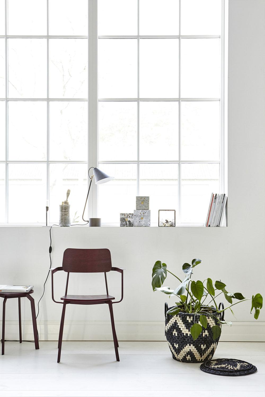 Wooden armchair in wine | Mink Interiors