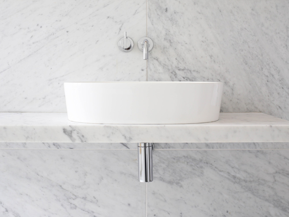 Marble bathroom - At the Chapel | Design Hunter