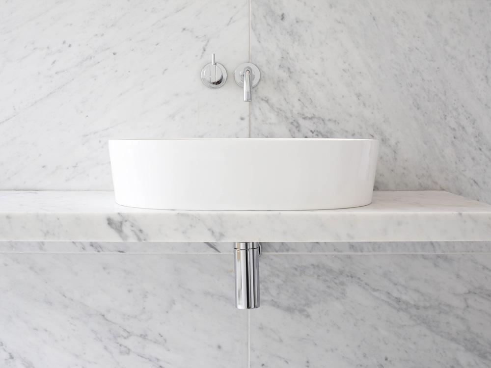 Marble bathroom - At the Chapel | Design Hunter