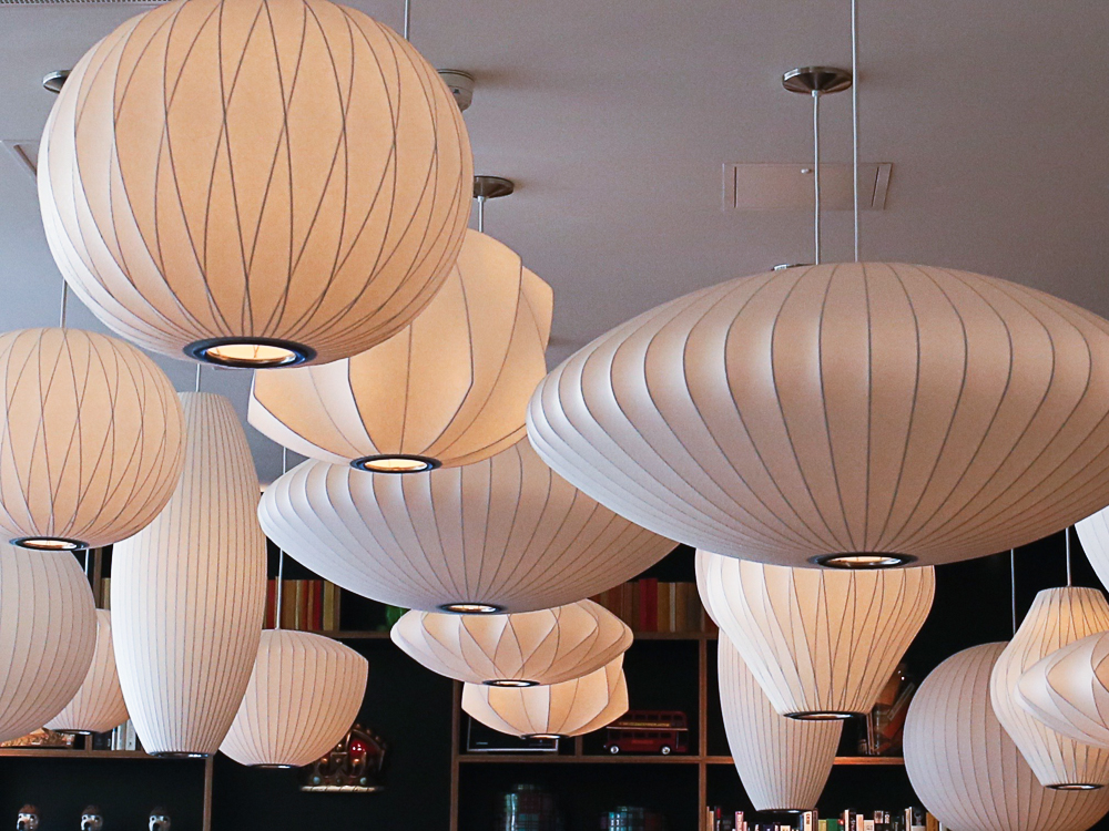 George Nelson bubble lamps at CitizenM   Deisgn Hunter