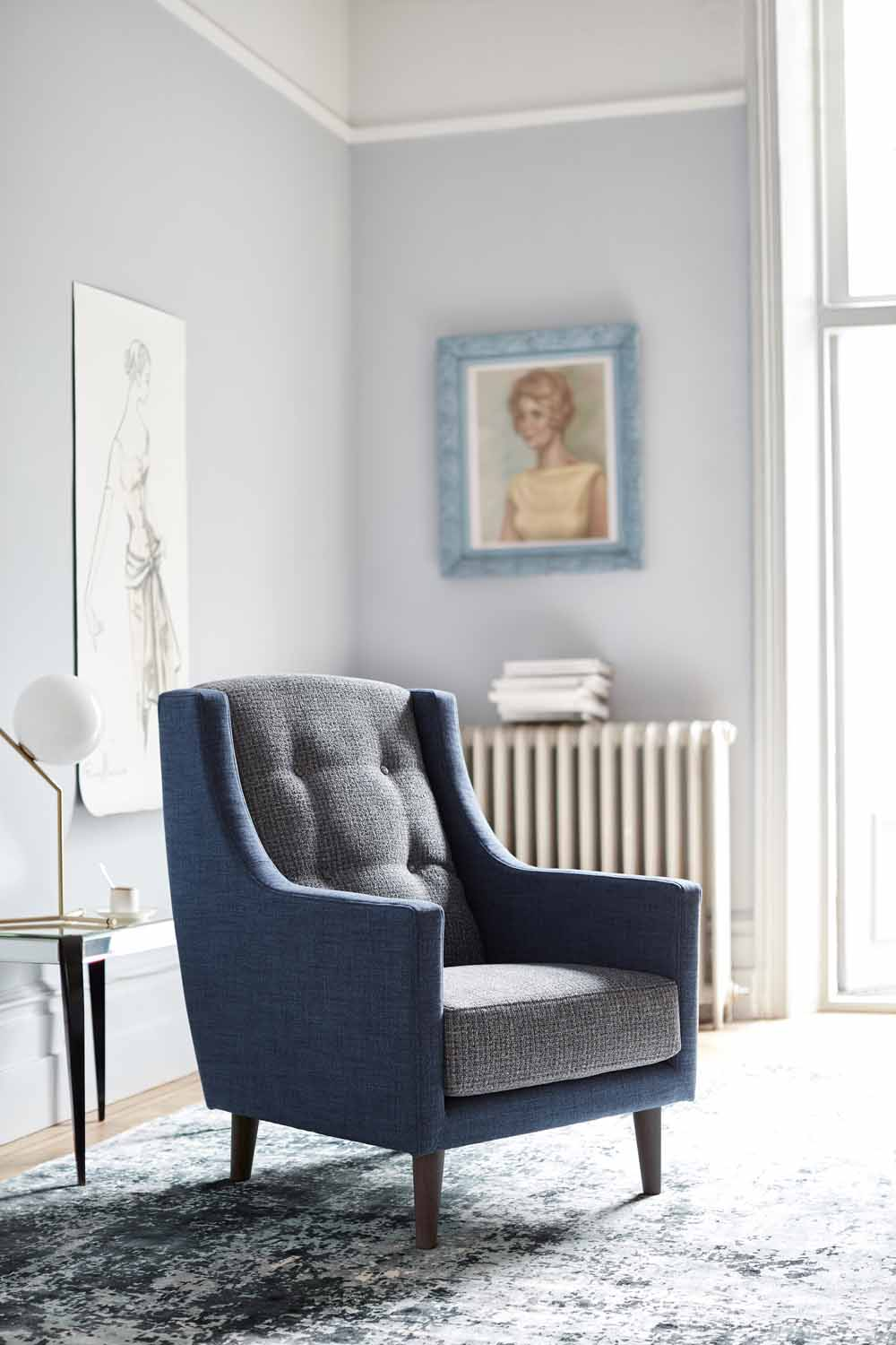 Blue Hepburn chair by G Plan | Design Hunter
