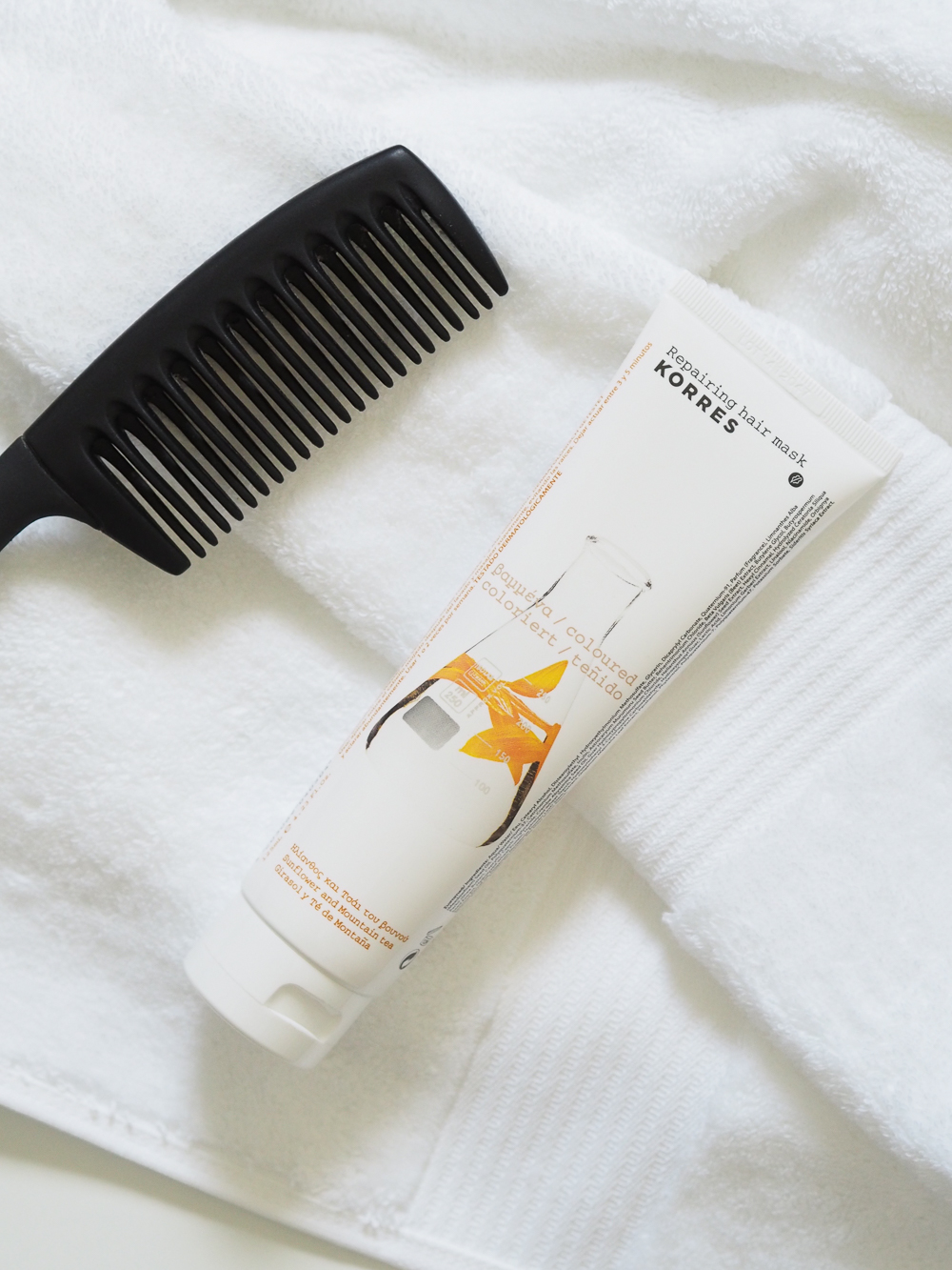 Korres repairing hair mask | Design Hunter