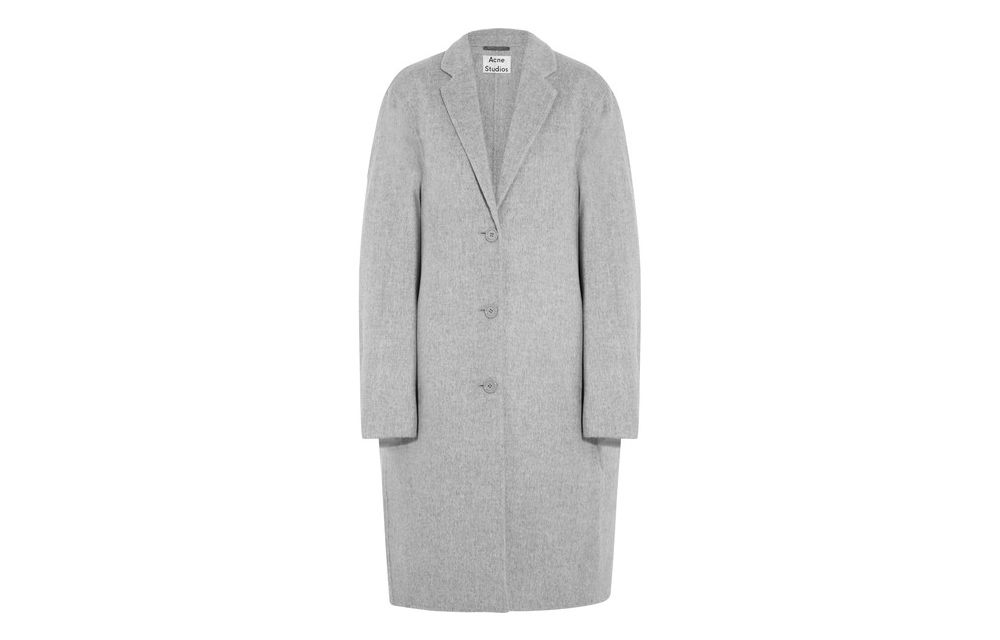 Acne Studios grey wool coat