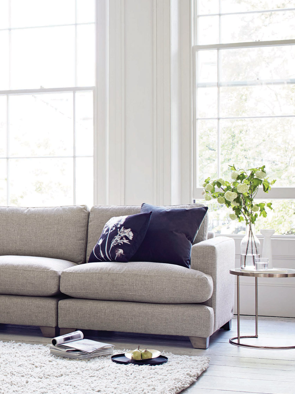 Sofa in neutral lving room